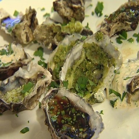 Ohiwa Oysters prepared on a plate