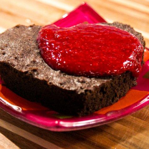 Chocolate Brownie with Berry Sauce