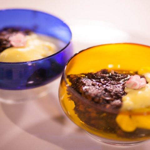 Chocolate Self-Saucing Pudding with Edmonds Custard