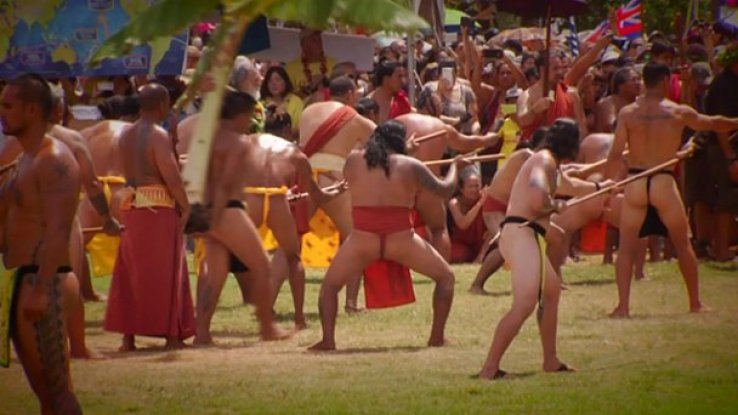 Hawaiian spear catching ceremony - Image / Supplied